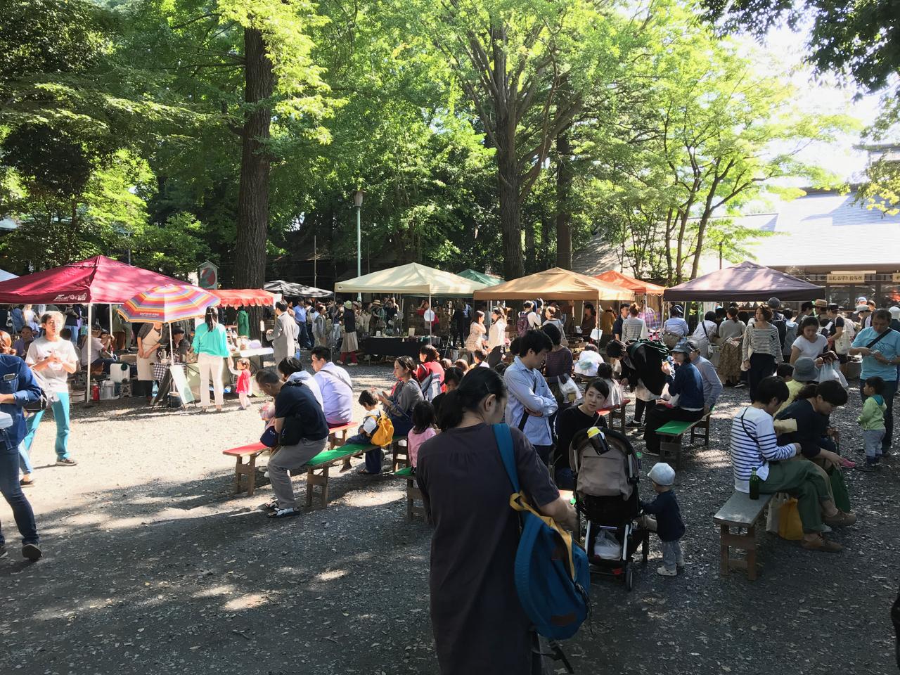 小金井神社、はけのおいしい朝市